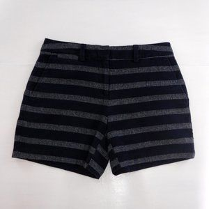 Lands End Not Too Low Rise Blue Striped Shorts